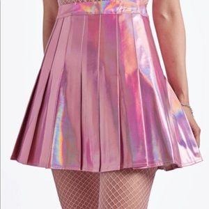 Holographic Tennis Skirt